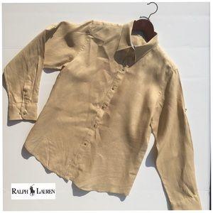 Lauren Ralph Lauren 100% Linen Button Down Shirt M